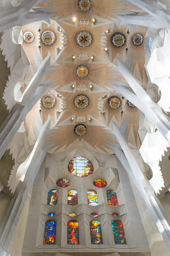 La Sagrada Ceiling and Glass