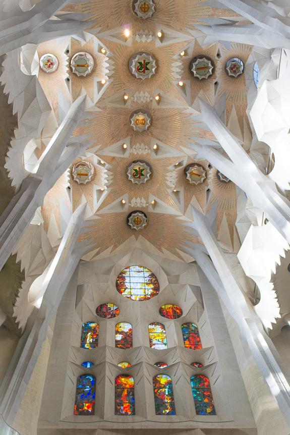 La Sagrada Ceiling and Glass