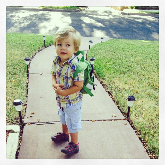 Henry's first day of school.